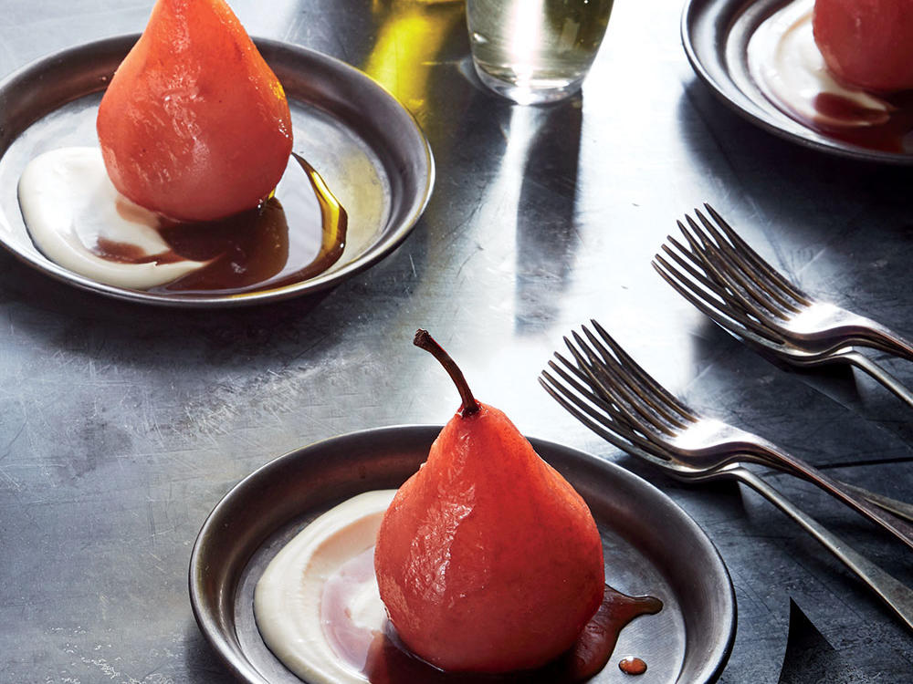 1611 Hibiscus Poached Pears