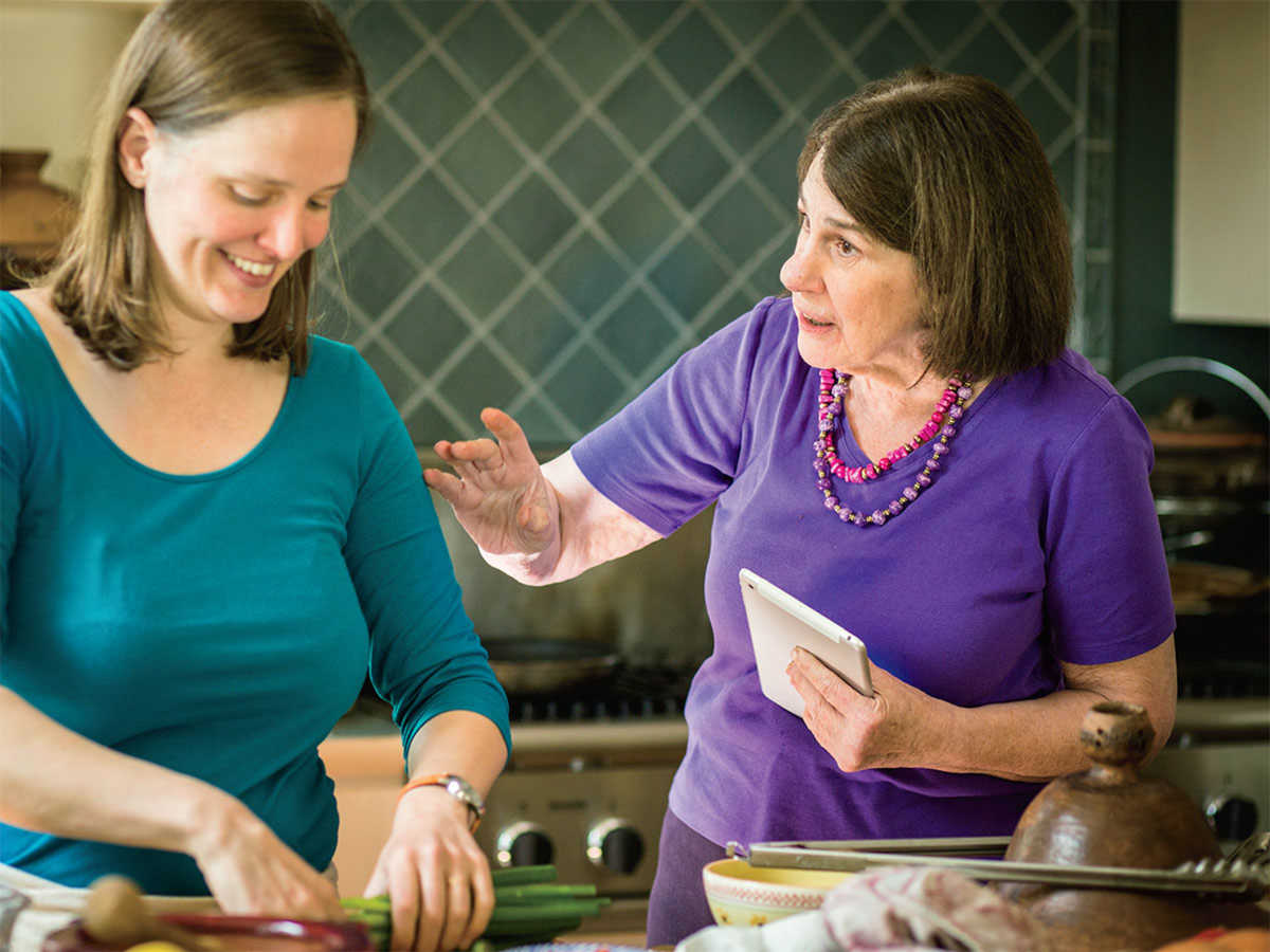 Paula Wolfert and Emily Kaiser Thelin