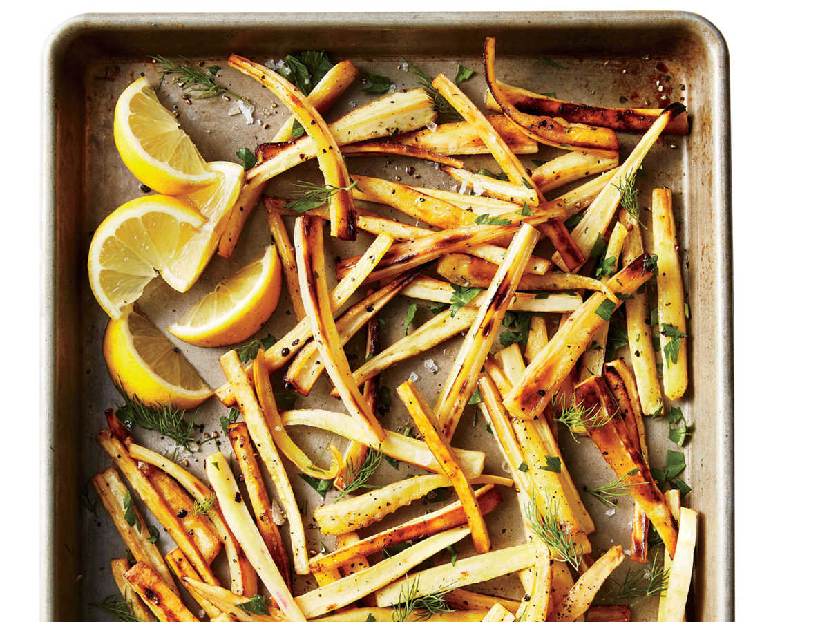 1611 Roasted Parsnips with Lemon and Herbs