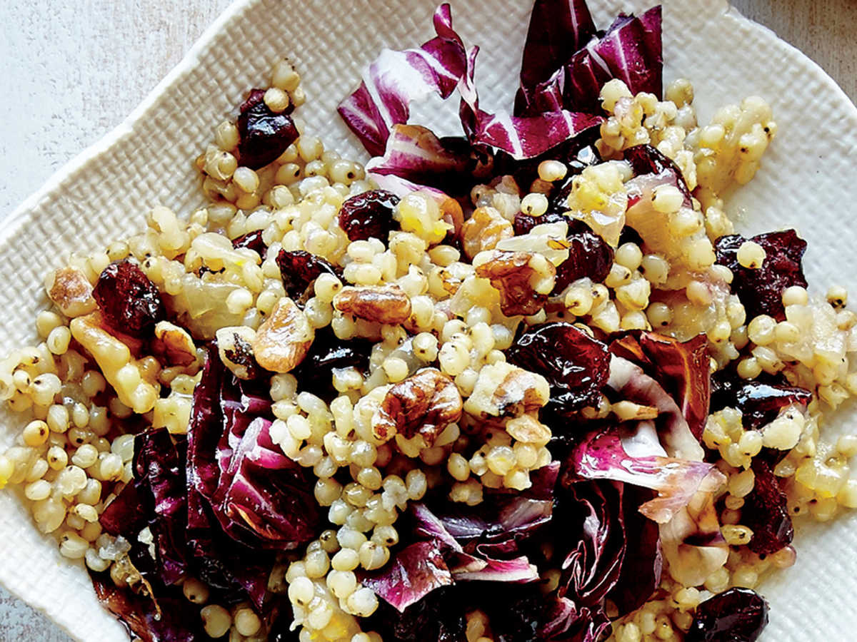 Grilled Radicchio and Sorghum Pilaf