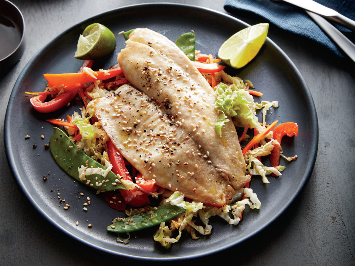 Gift-Wrapped Sesame-Soy Tilapia