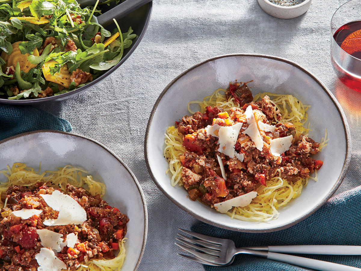 Tuesday: Mushroom Bolognese Over Spaghetti Squash