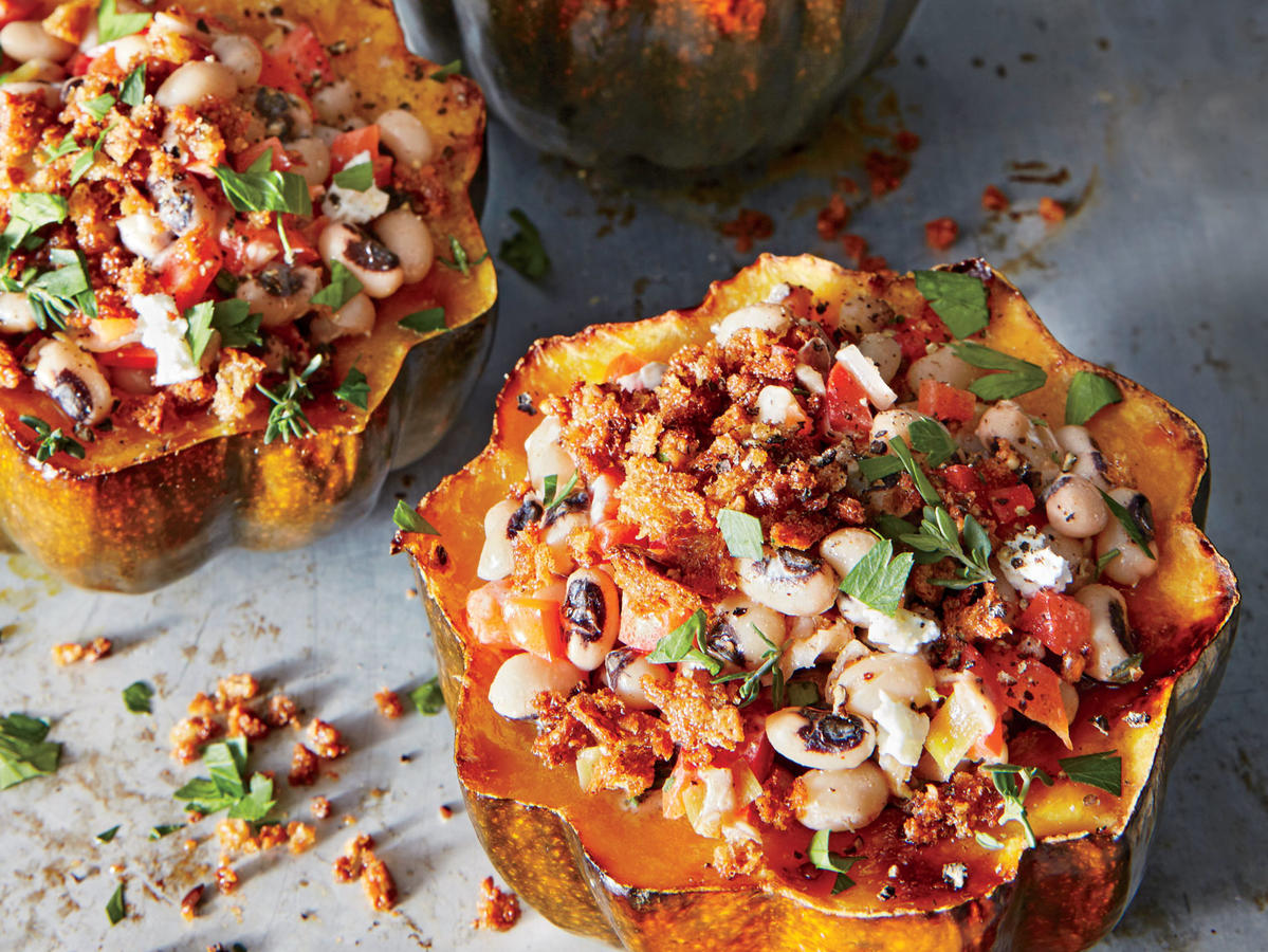 Third Meal: Blacked-Eyed Pea-Stuffed Acorn Squash