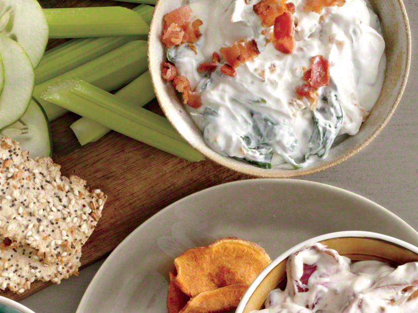 Blue Cheese-Bacon-Spinach Dip