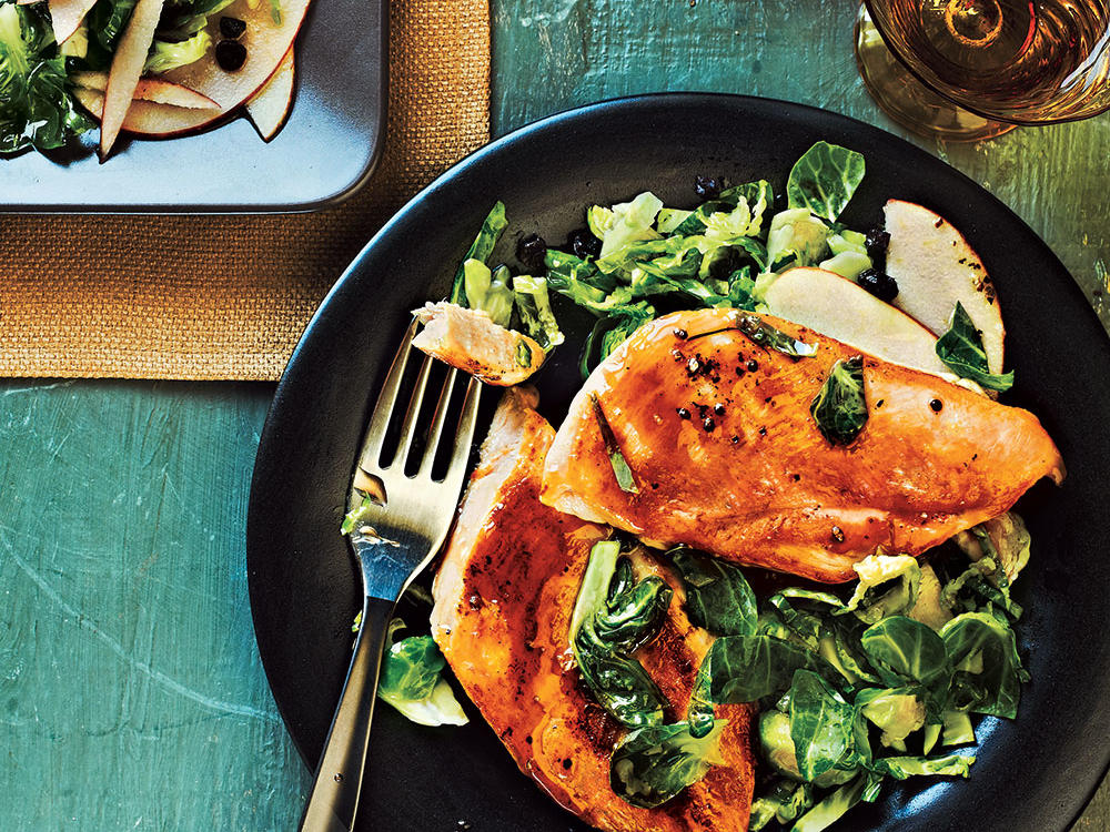 Maple-Glazed Chicken with Apple-Brussels Sprout Slaw Weight-Loss Plan