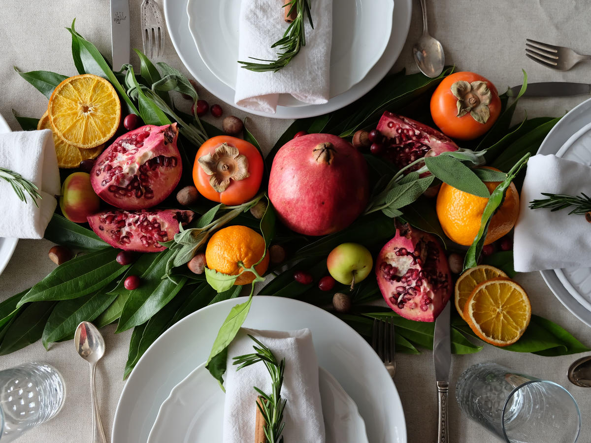 Full Centerpiece Decor with Food image