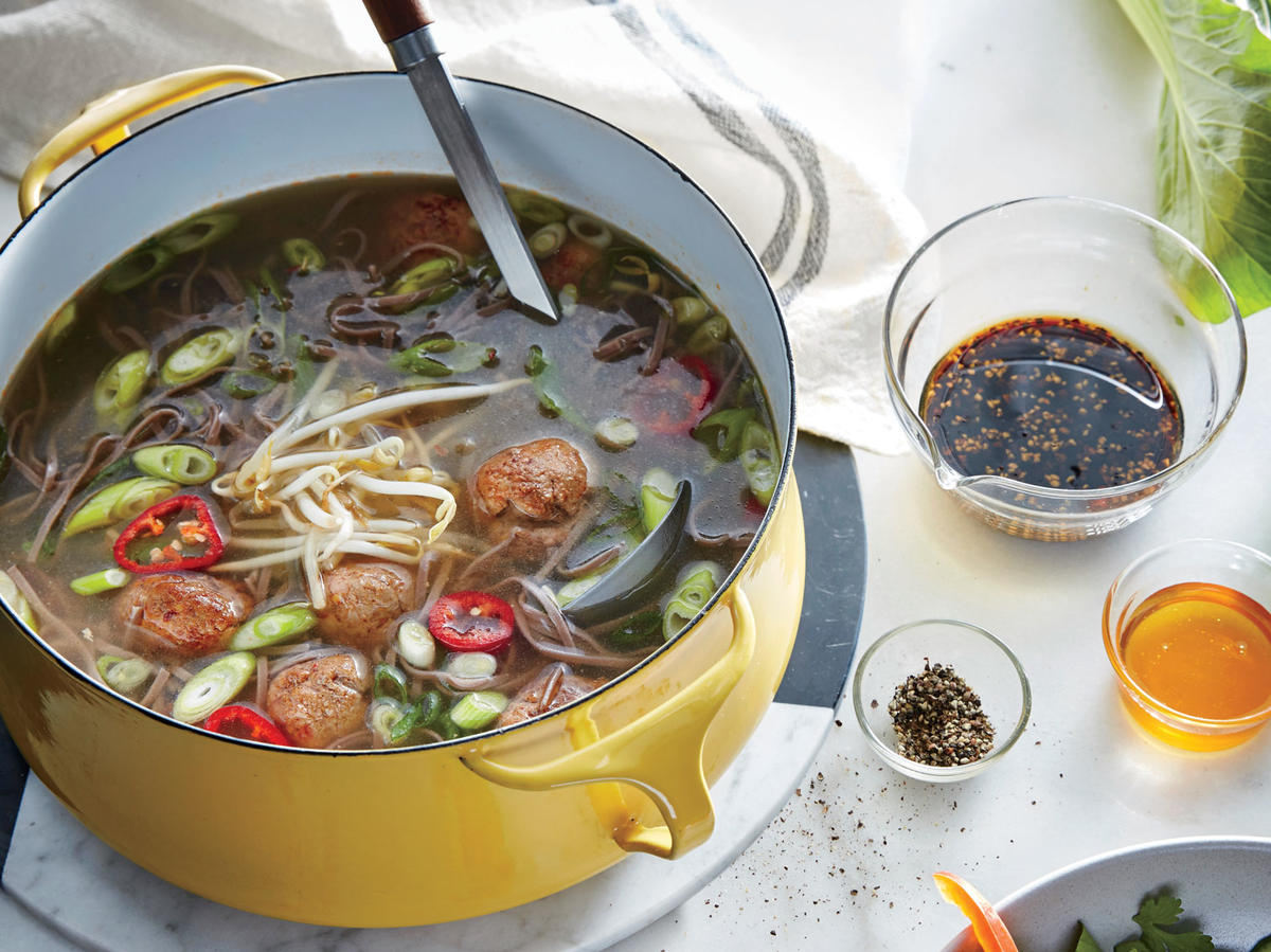 Miso Noodle Soup with Meatballs