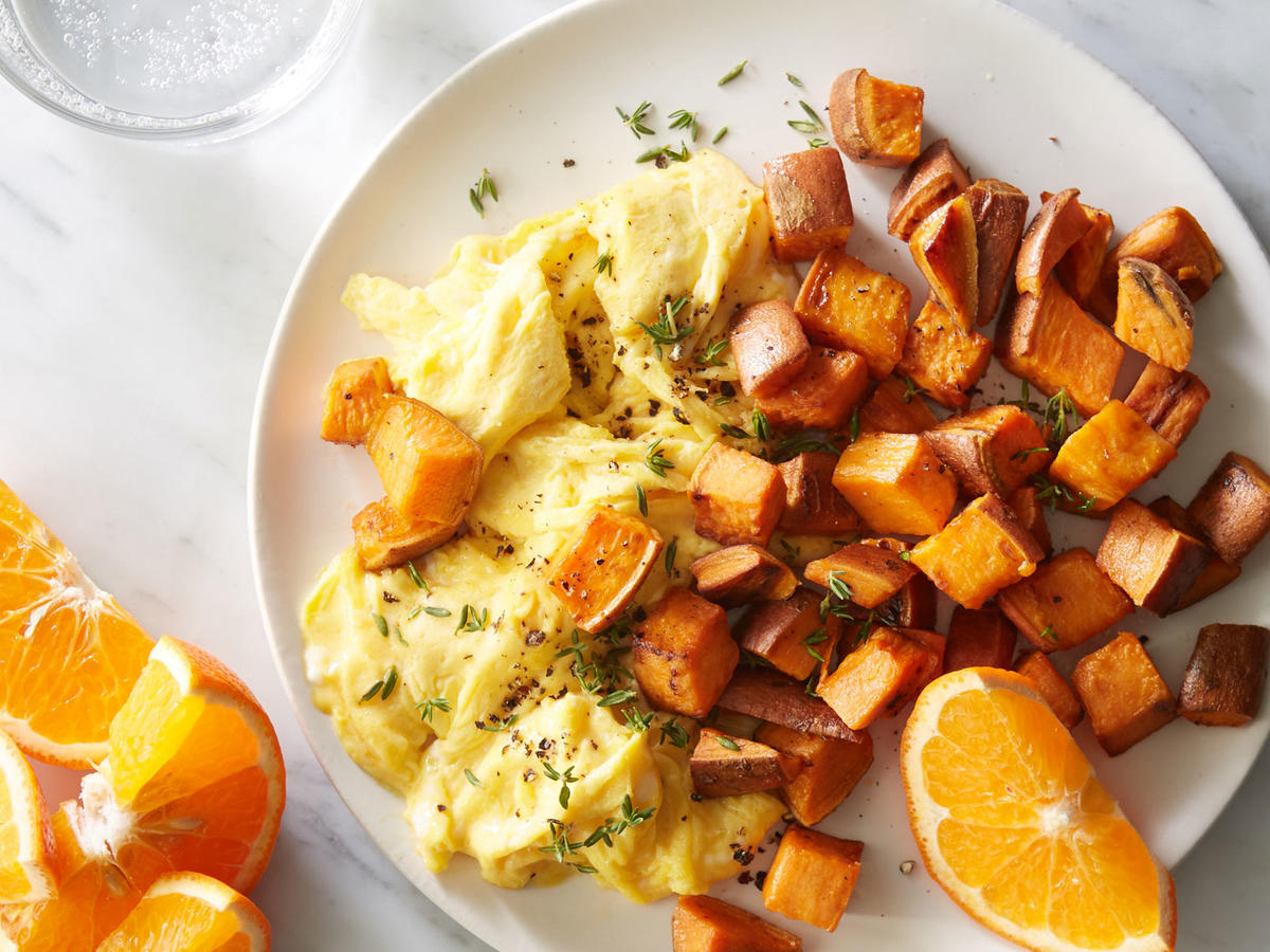 Day 2 Breakfast: Sweet Potato Home Fries with Eggs