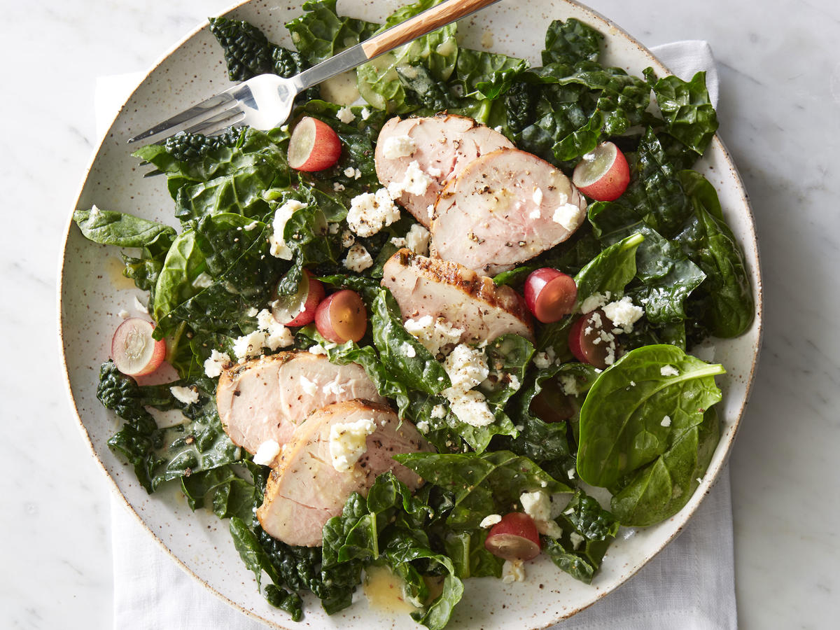 Lunch: Winter Salad with Easy Herbed Pork Tenderloin