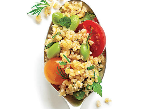 Bulgur Salad with Edamame and Cherry Tomatoes Recipe