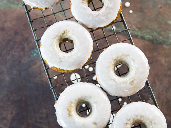 Buttermilk-Glazed Matcha Donuts