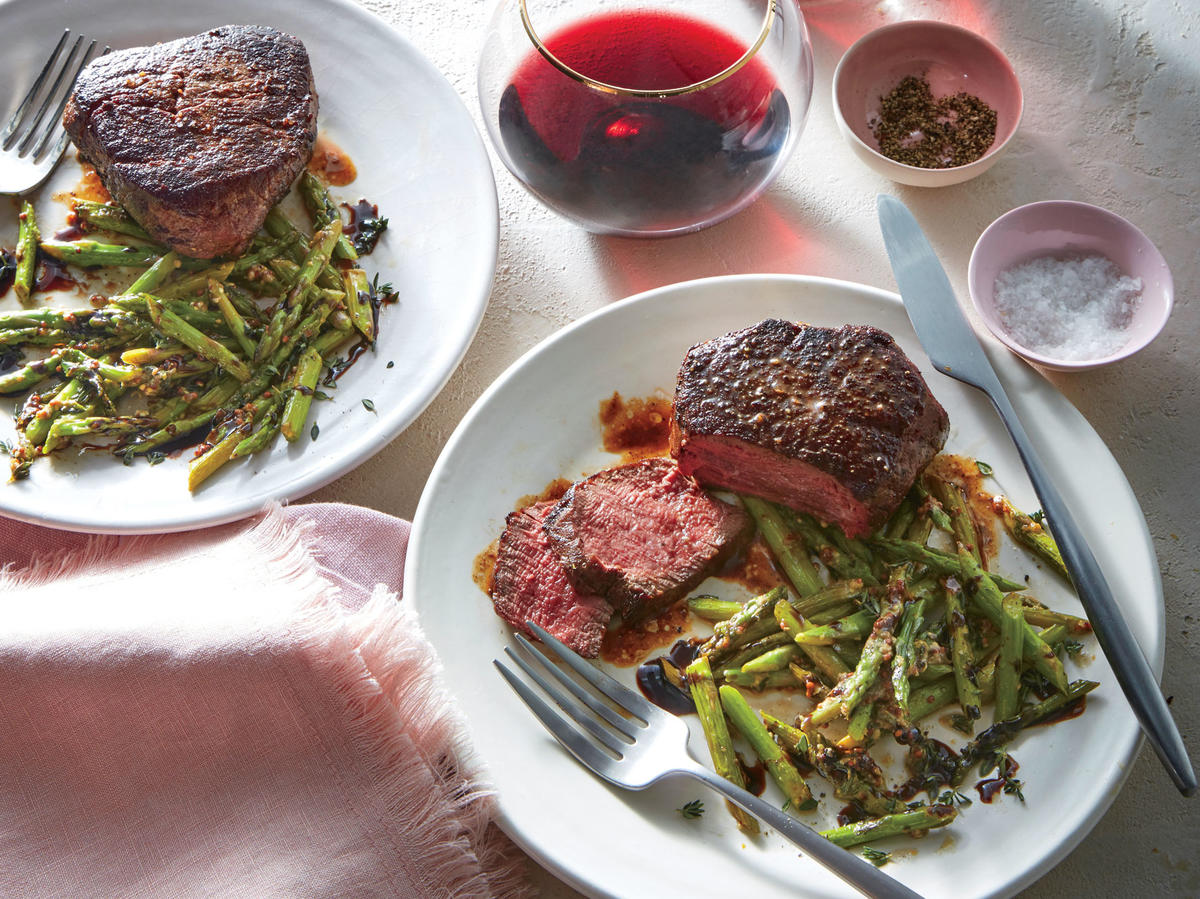 Friday: Beef Tenderloin with Balsamic Asparagus