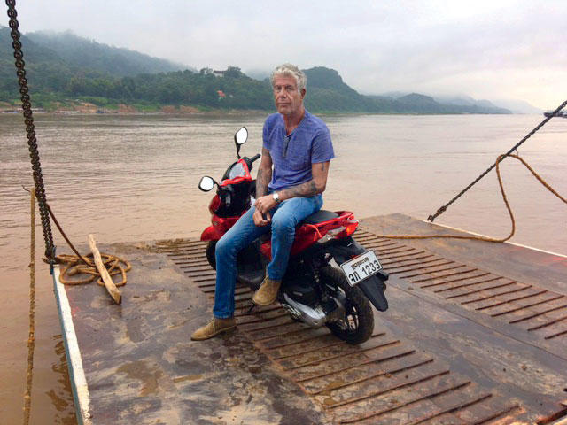 Anthony Bourdain in Laos Shooting Parts Unknown