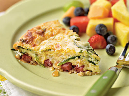 Healthy Crustless Smoked Turkey and Spinach Quiche Recipes