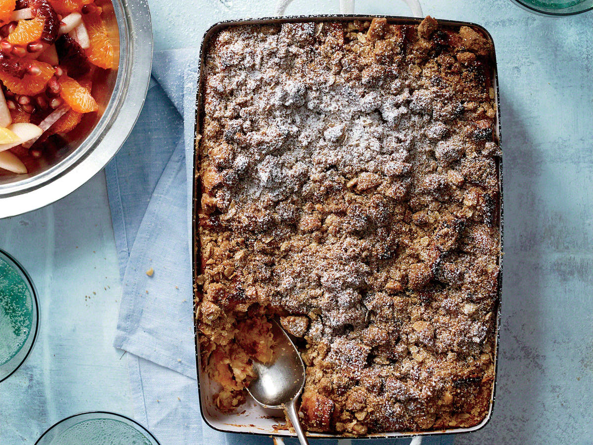Crowd-Pleasing Brunch Menu: Bananas Foster Breakfast Strata