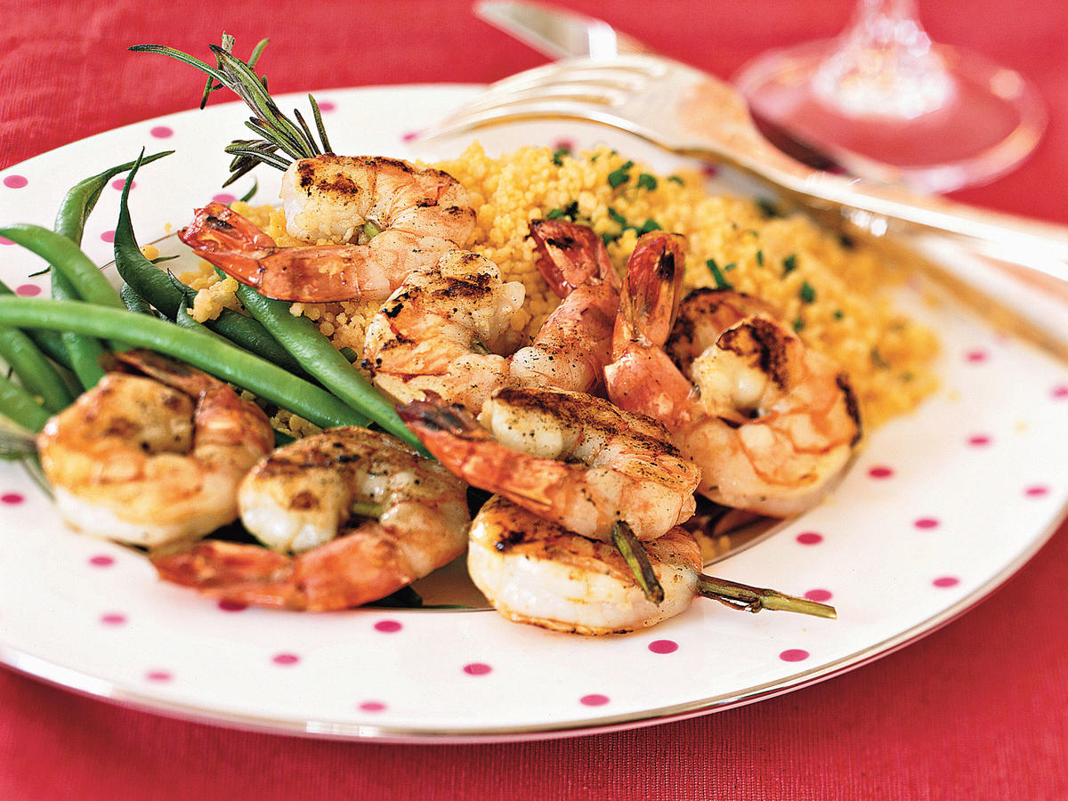 Recipe for Two: Rosemary Shrimp Scampi Skewers