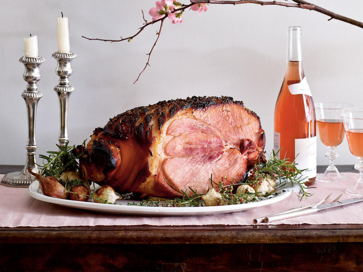 Baked Ham with Rosemary and Sweet Vermouth Recipes
