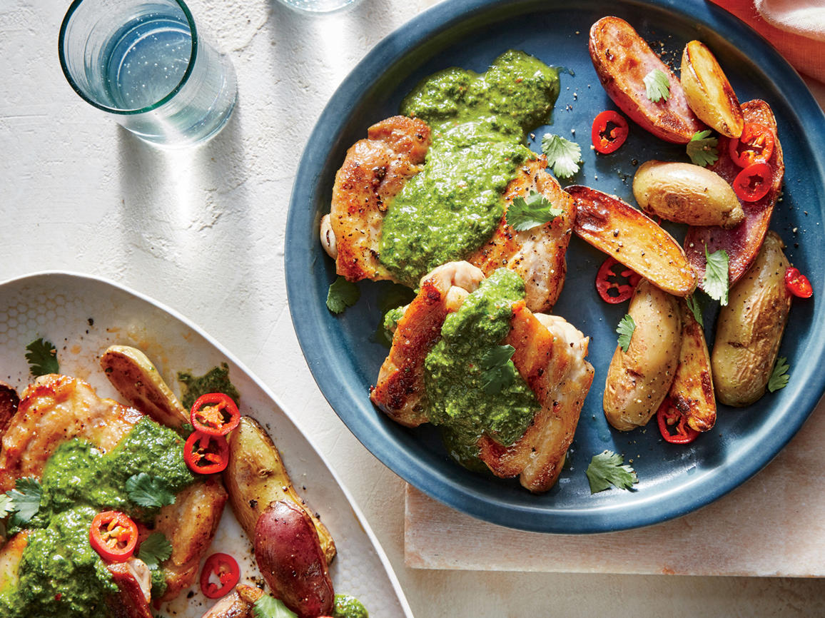 Tuesday: Chimichurri Chicken Thighs with Potatoes