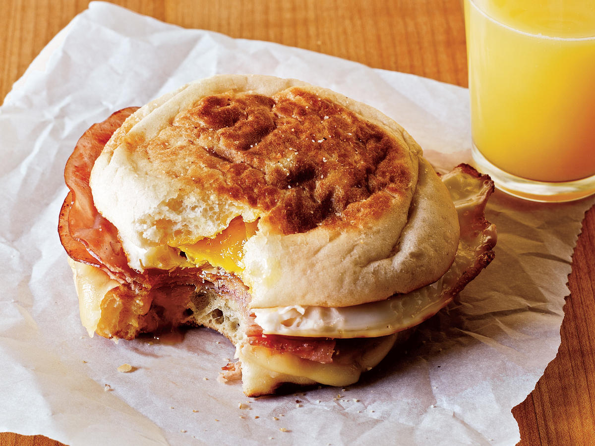 Ham and Swiss Egg Sandwiches Recipe