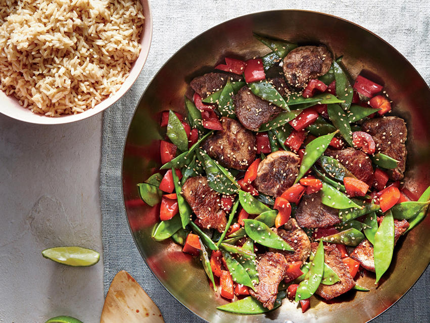 Pork Stir-Fry with Snow Peas