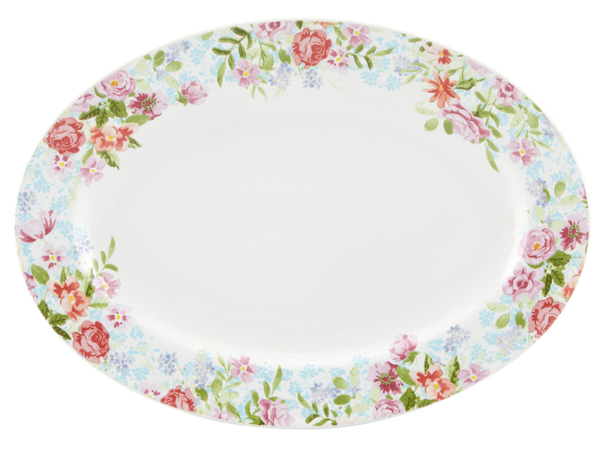 Spring Bouquet Oval Platter Wayfair