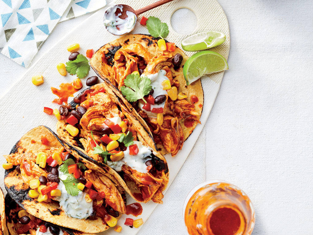 Bbq Chicken And Black Bean Tacos Recipe Cooking Light