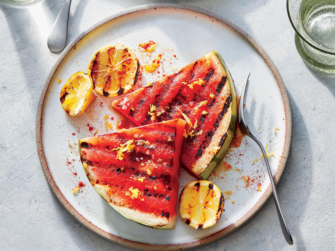 Hot-Sweet Grilled Watermelon