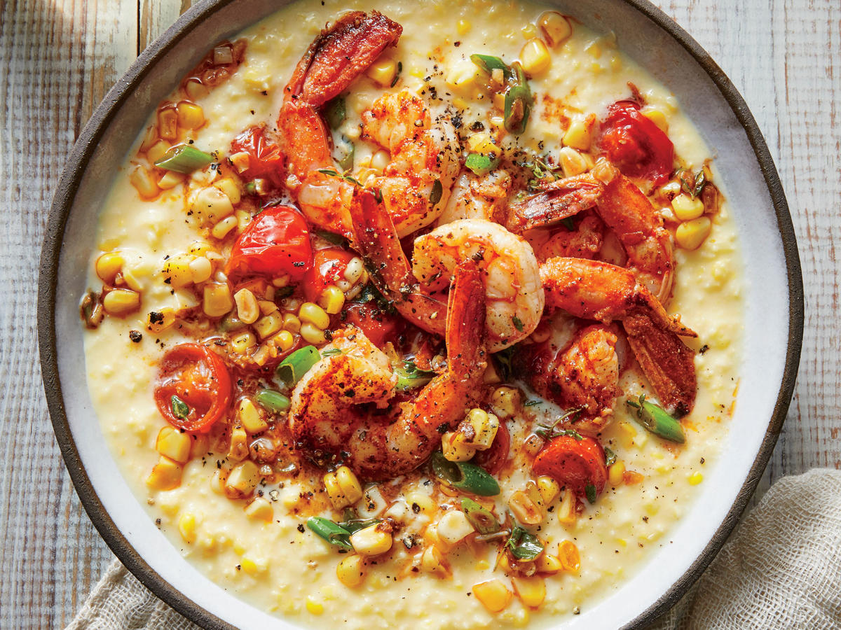 Creole Shrimp and Creamed Corn