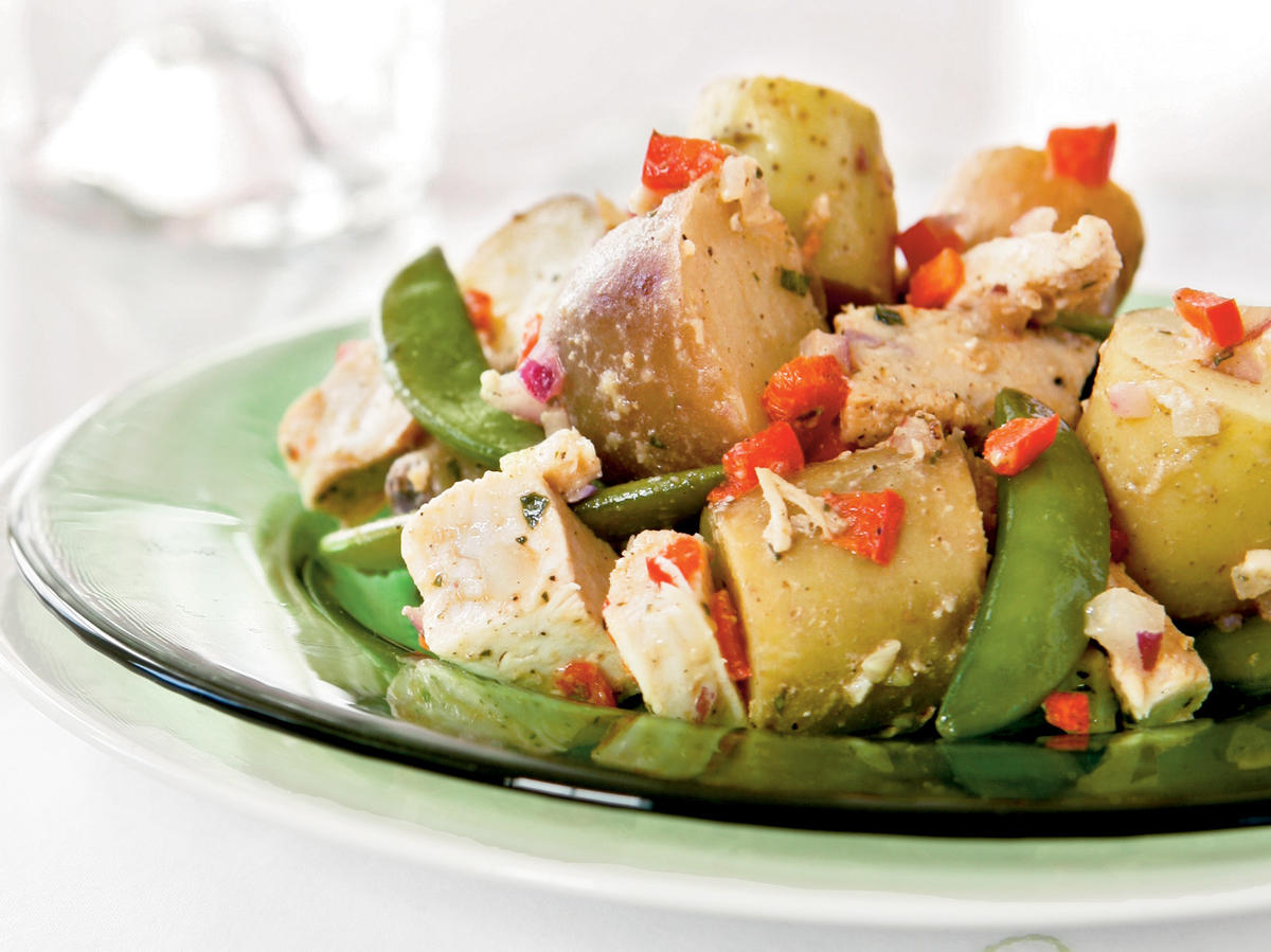 Potato, Chicken, and Fresh Pea Salad