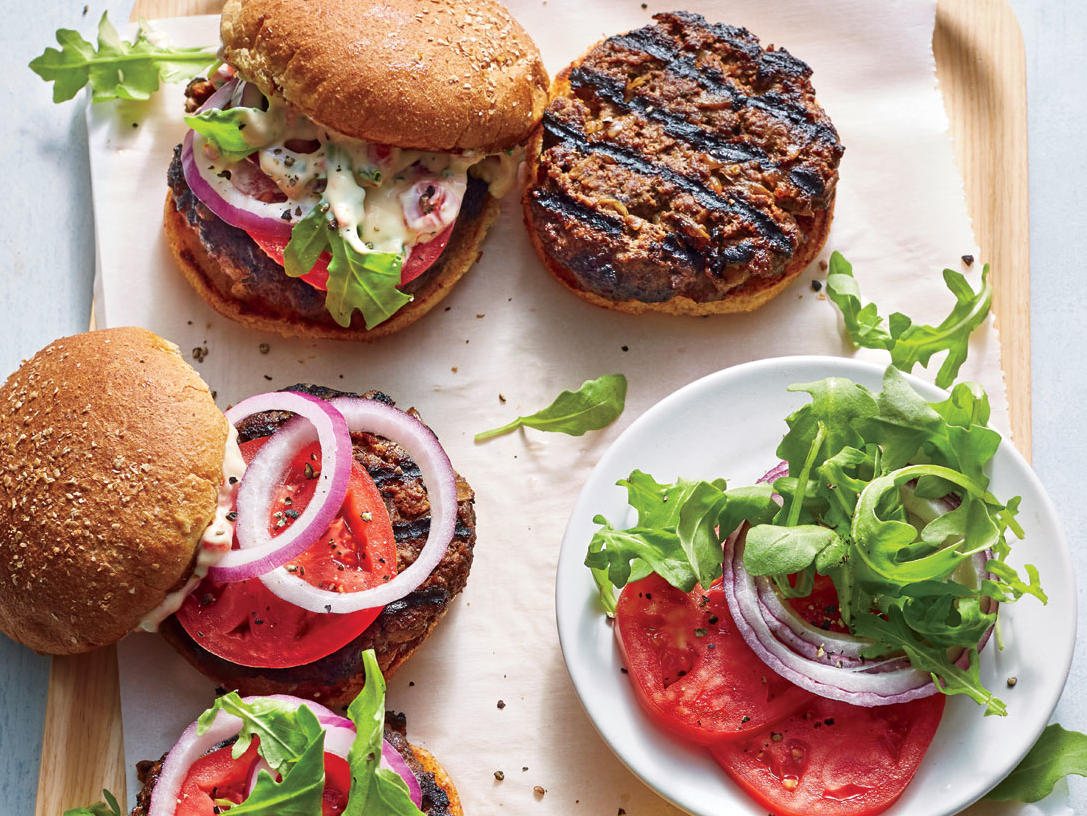 Smoky Caramelized Onion Burgers