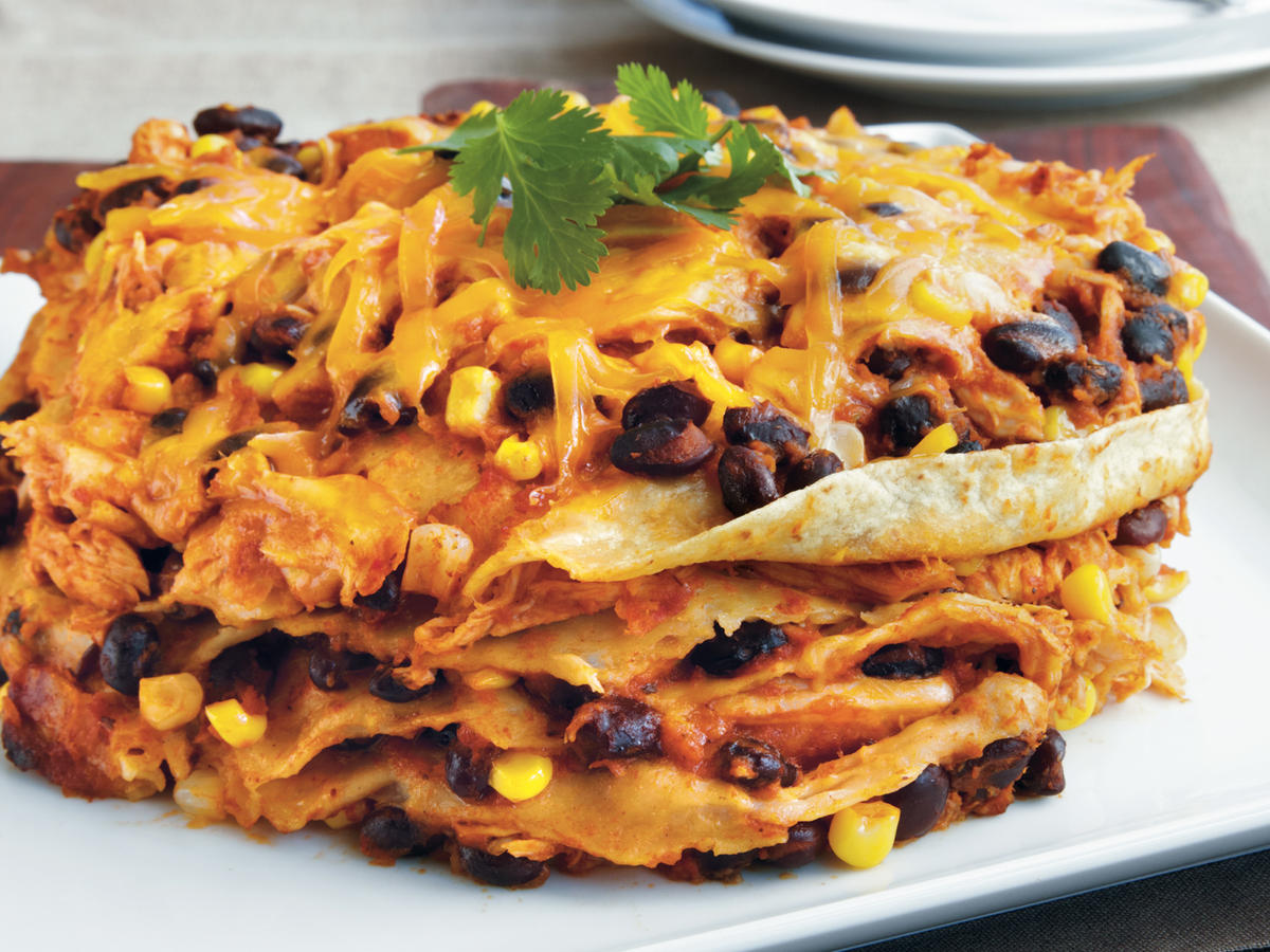 Chicken Enchilada Stack Recipe