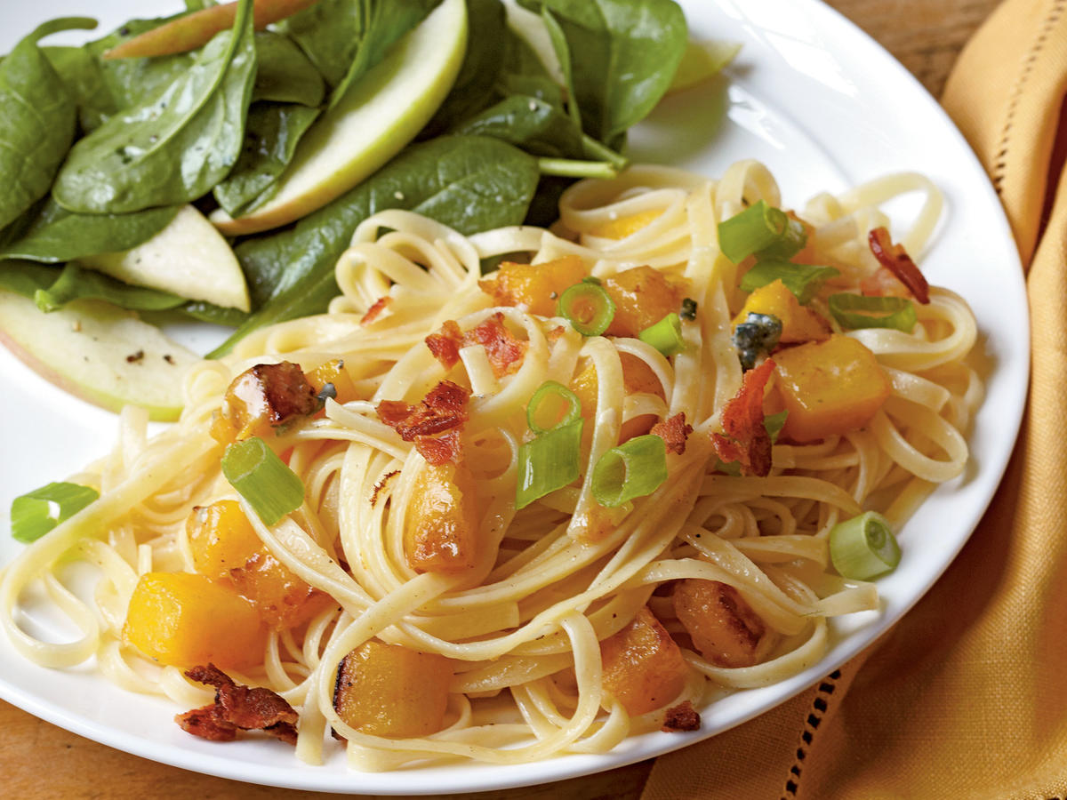 Healthy Budget Recipes: Bacon and Butternut Pasta