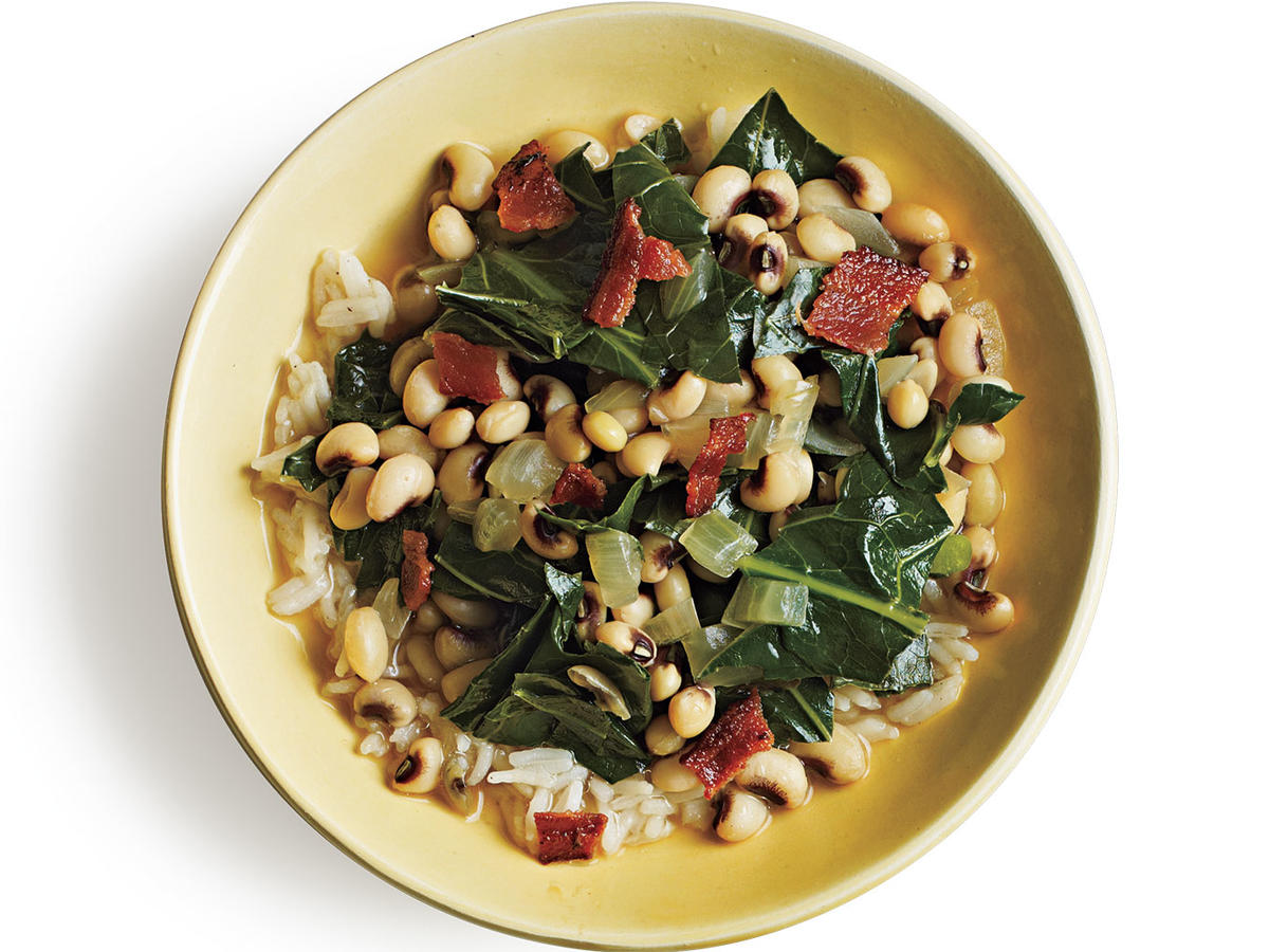 Black-Eyed Peas and Greens Budget Cooking Recipe