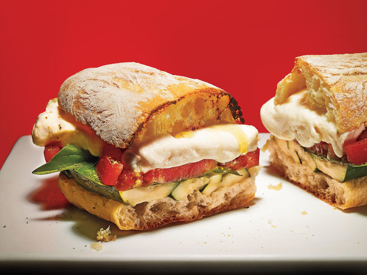 Grilled Zucchini Caprese Sandwiches Recipe