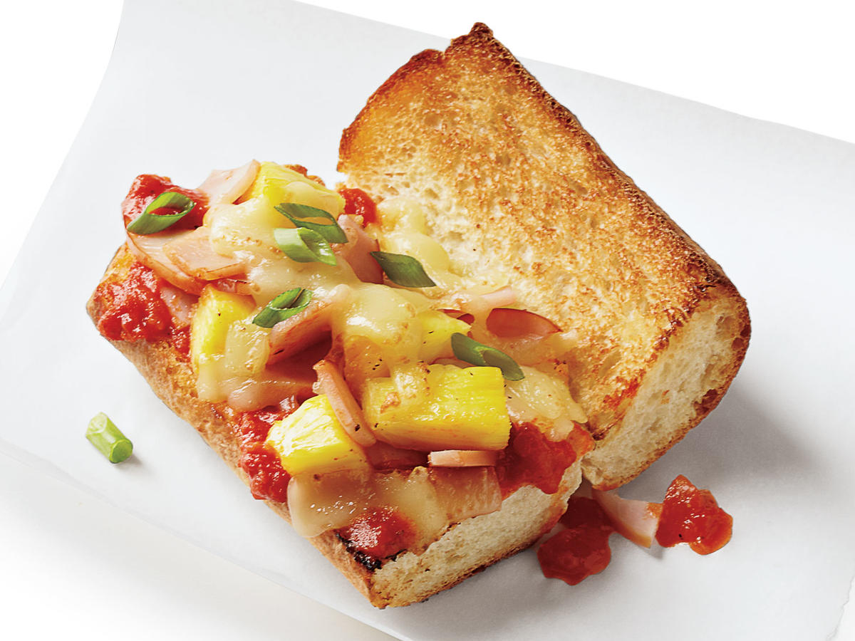 Ham and Pineapple Pizza Subs Budget Cooking Recipe