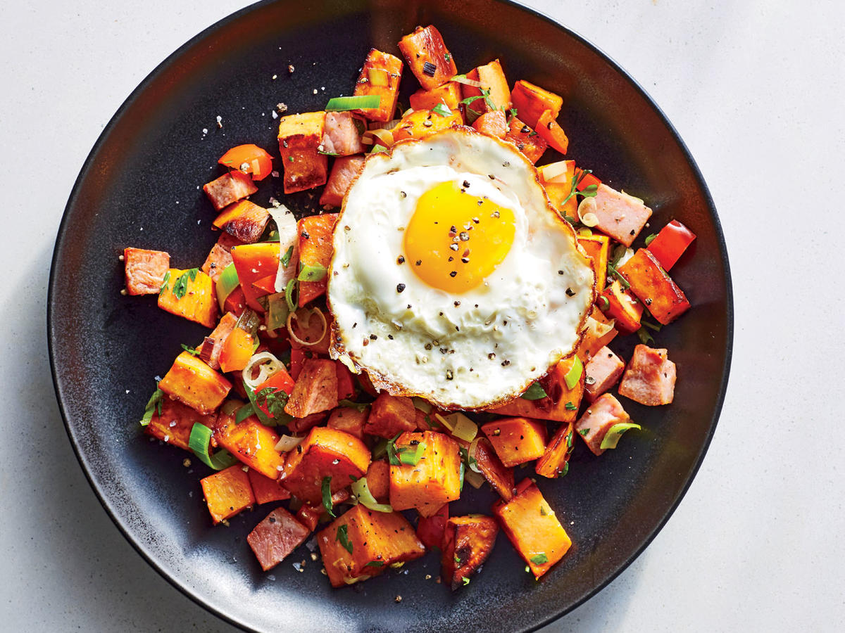 Wednesday: Ham and Sweet Potato Hash
