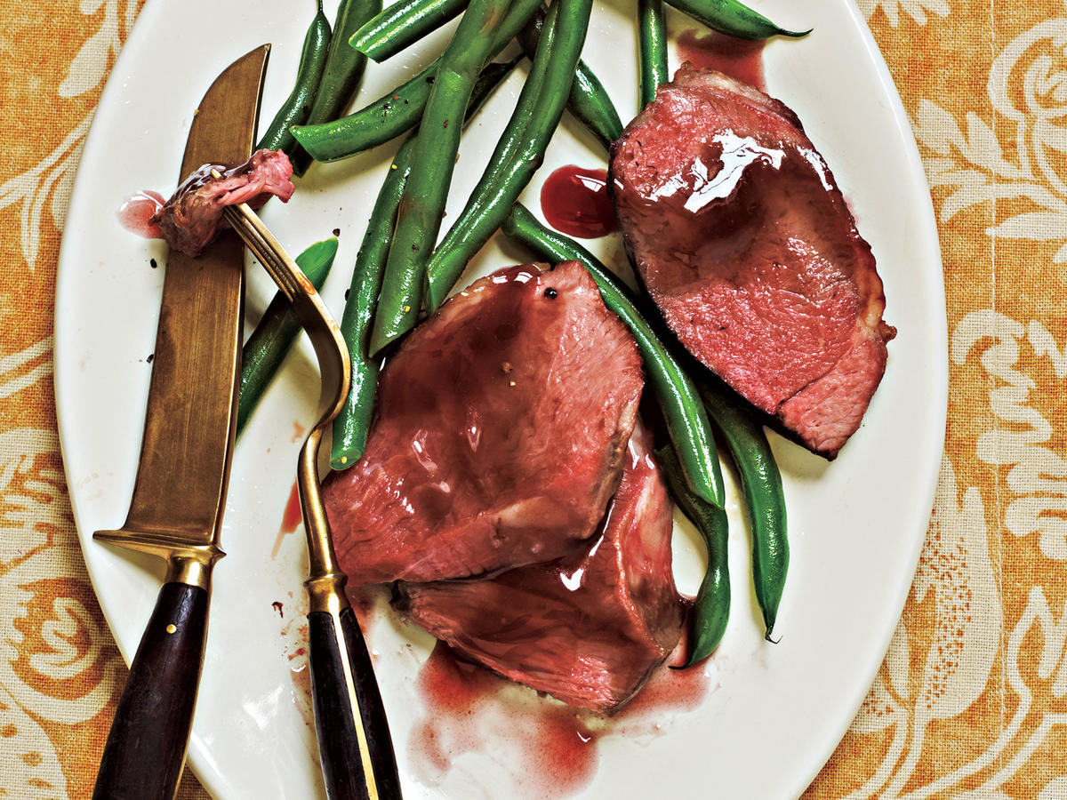 Roast Lamb with Pomegranate Sauce Recipe