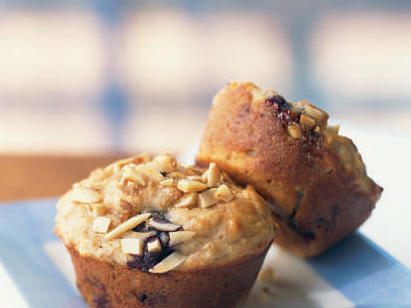 Quick and Healthy Blueberry Power Muffins with Almond Streusel