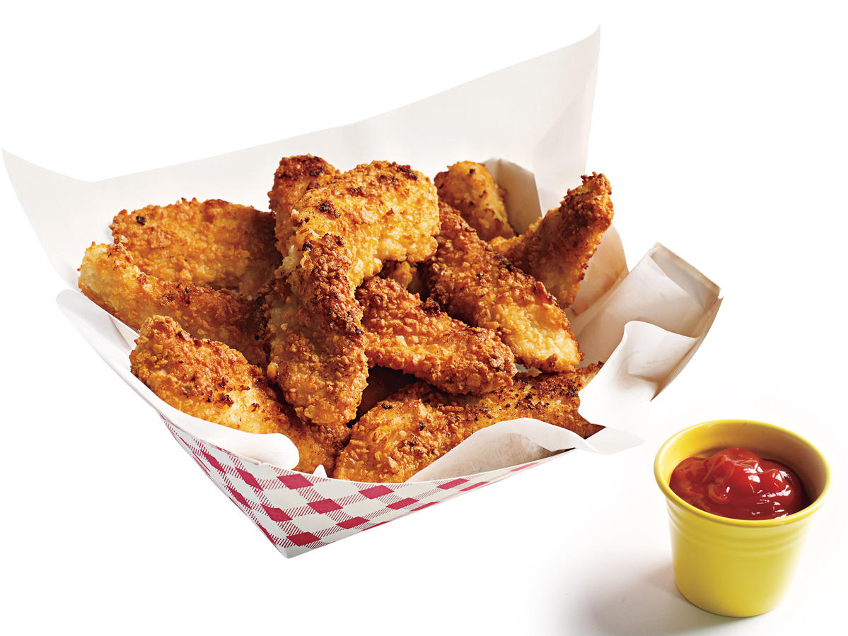 Potato-Crusted Chicken Fingers Budget Cooking Recipe