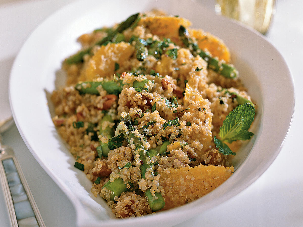 Tuesday: Quinoa Salad With Asparagus, Dates and Orange