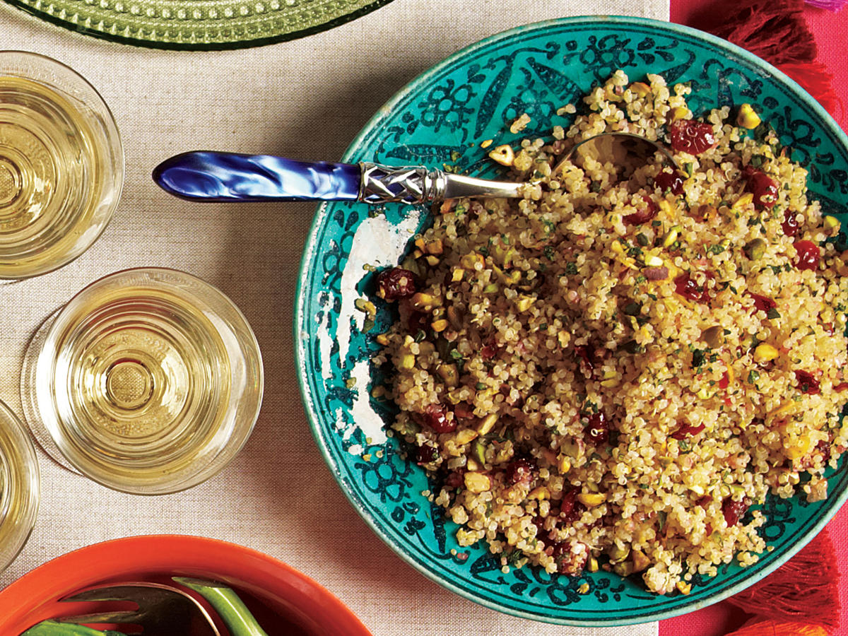 Quinoa with Dried Cherries and Pistachios