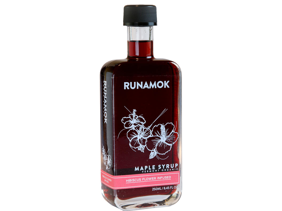 Runamok Hibiscus Flower Infused Maple Syrup