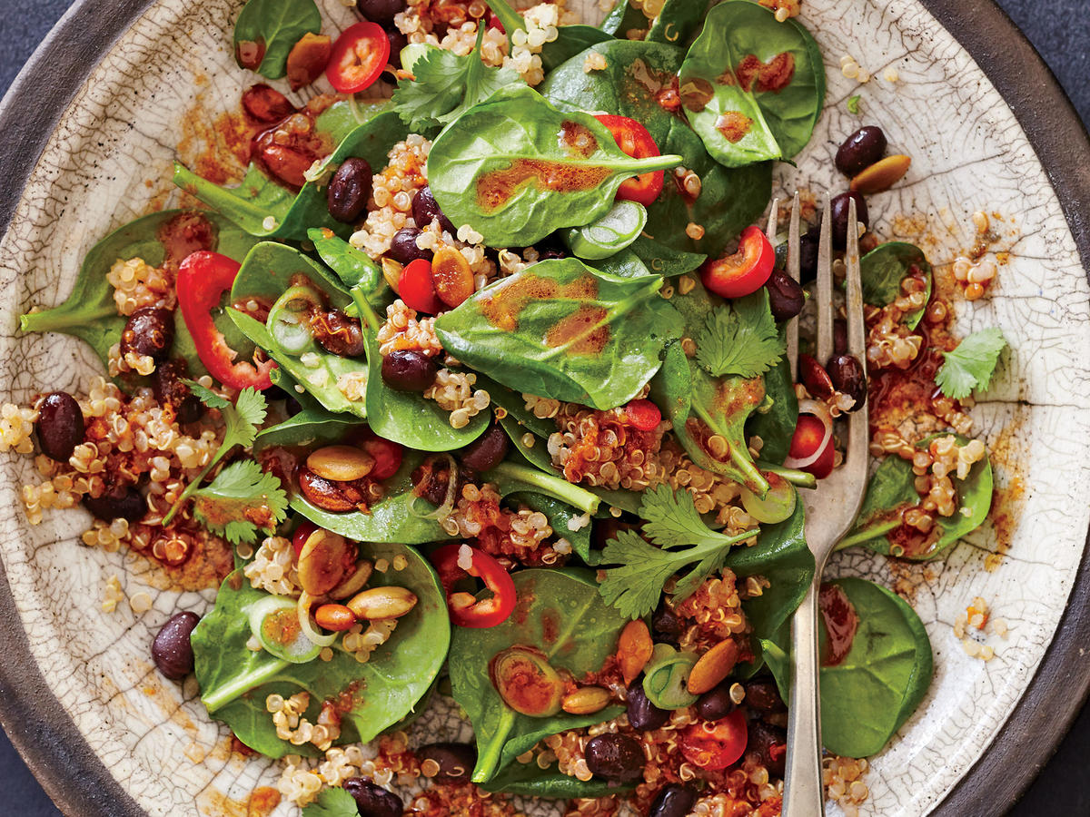Spicy Bean and Quinoa Salad with  Mole  Vinaigrette