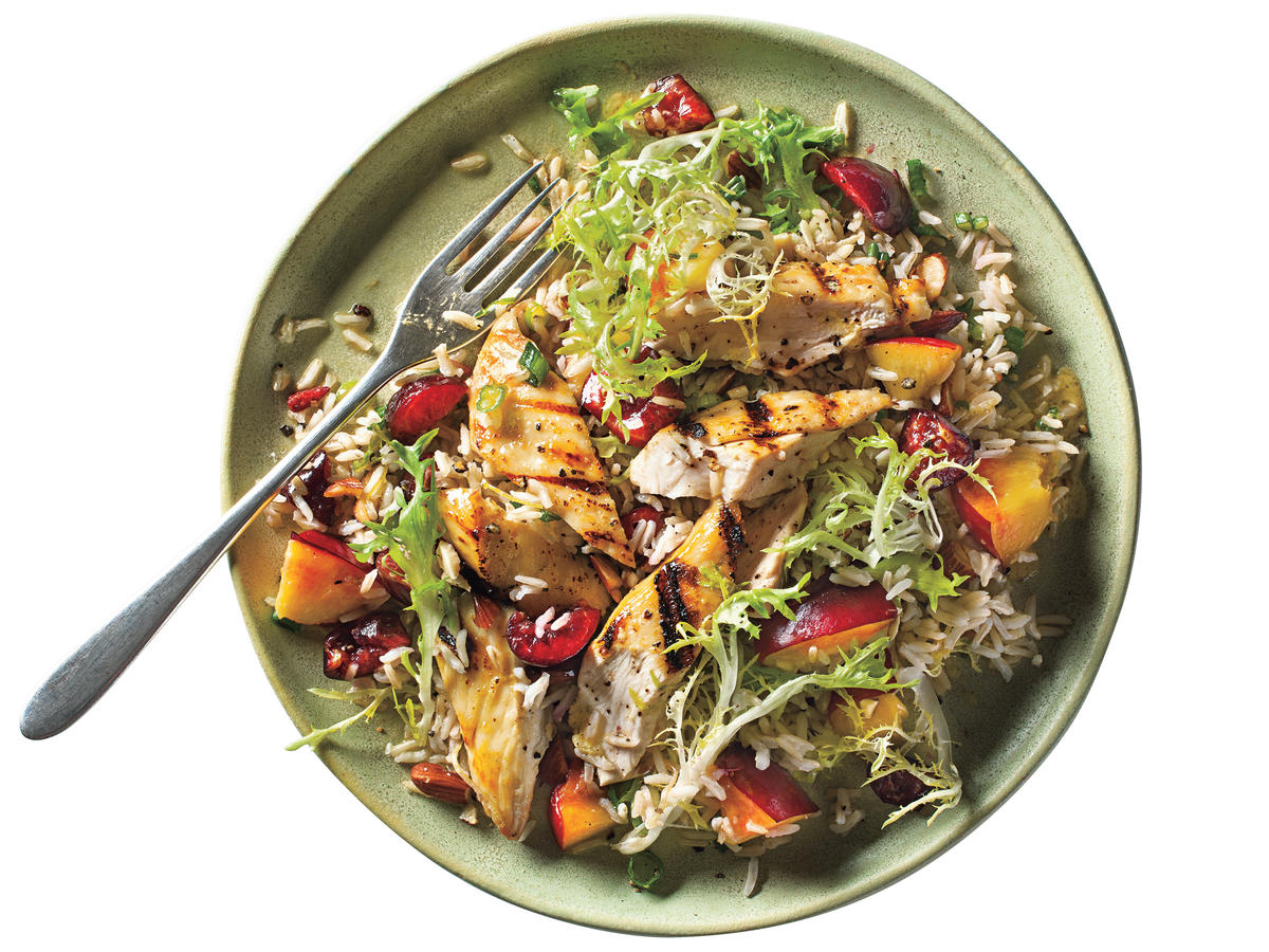 1208 Stone Fruit Chicken-Rice Salad