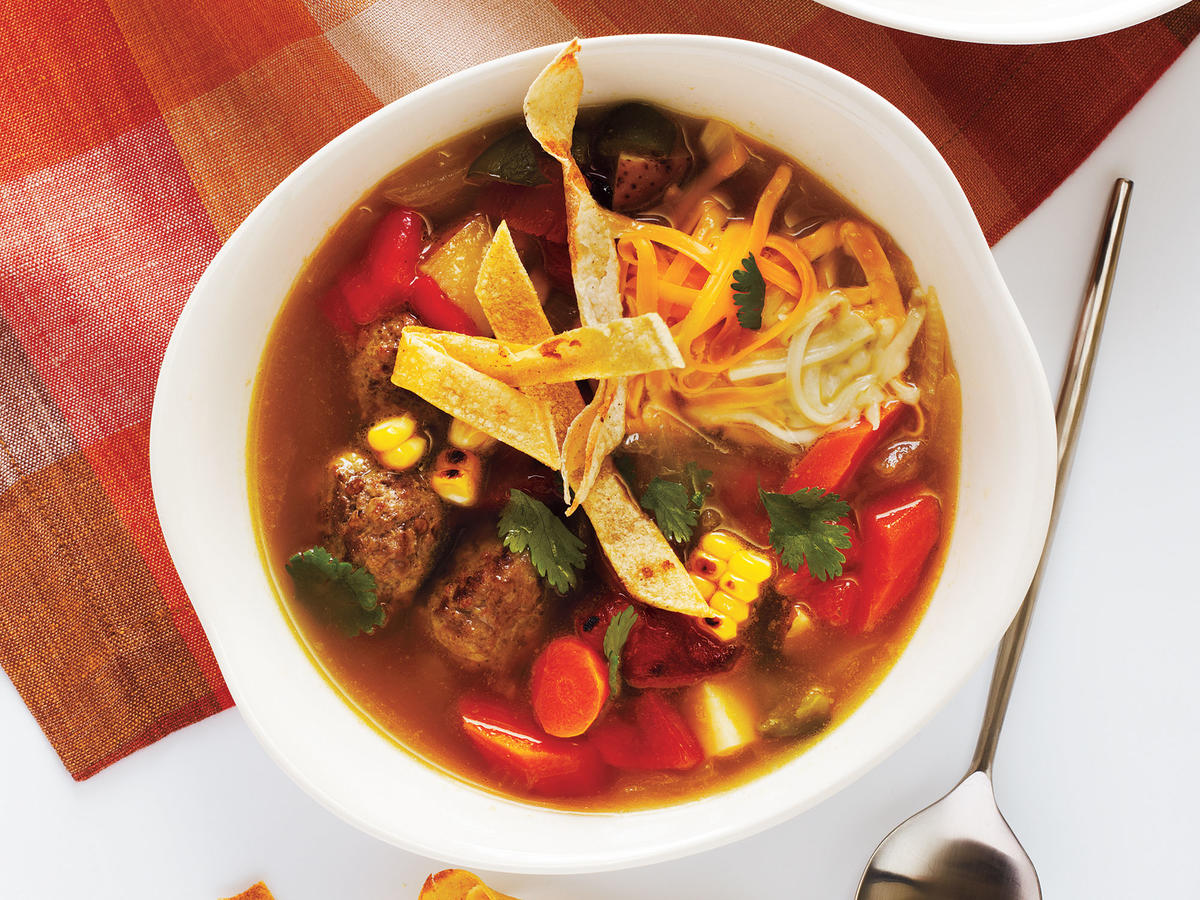 Tortilla Meatball Soup Recipe