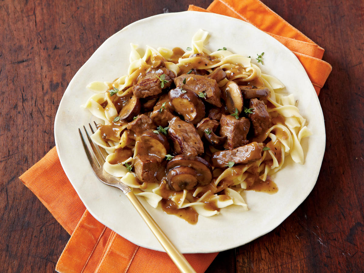 Steak Tips with Peppered Mushroom Gravy Recipes