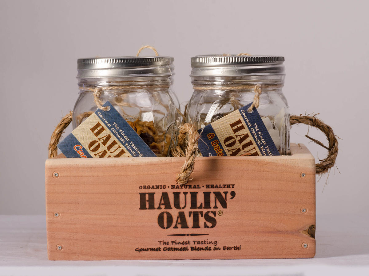 Tennessee - 4 Pack Oatmeal Gift Crate Pint Jars