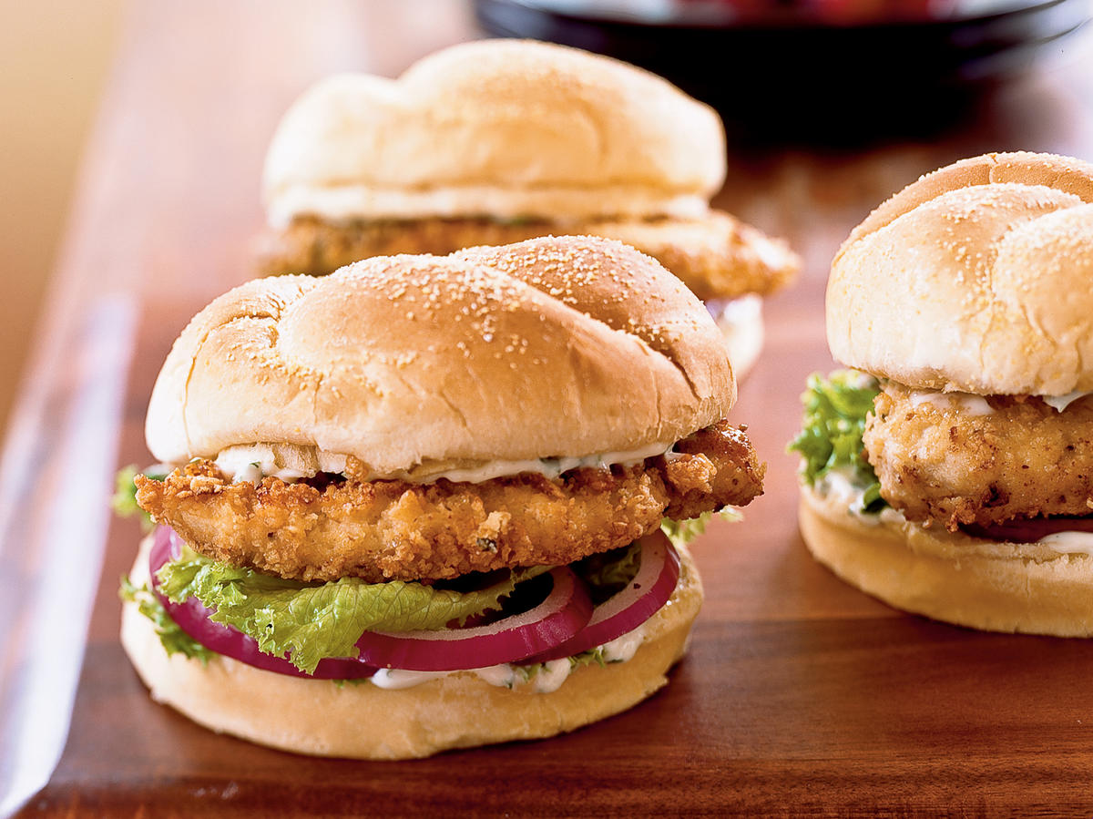 Spicy Chicken Sandwiches with Cilantro-Lime Mayo
