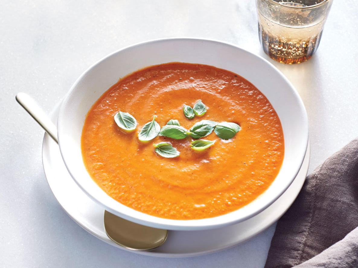 Fire-Roasted Tomato-Basil Soup