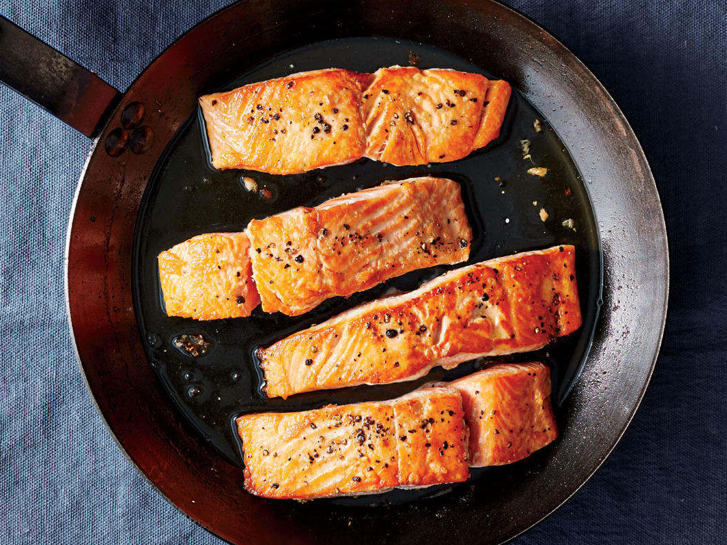 Salmon in Carbon Steel Pan